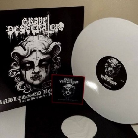 GRAVE DESECRATOR - Unblessed Bootleg Live in France - VINYL LP White