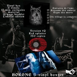 BORGNE - Vinyl Box version 2 - Red vinyls with black splatters 150 copies + digital (PREORDER)