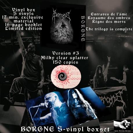 BORGNE - Vinyl Box version 3 - vinyls Milky Clear marbrés Rouge 150 exemplaires + digital (PREORDER)