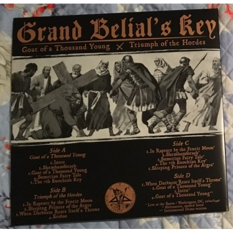 GRAND BELIAL'S KEY -  Grand Belial's Key – Goat Of A Thousand Young / Triumph Of The Hordes - VINYL DOUBLE LP Gold