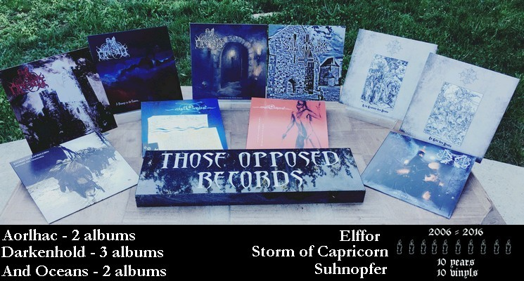Those Opposed 10 years - 10 vinyls